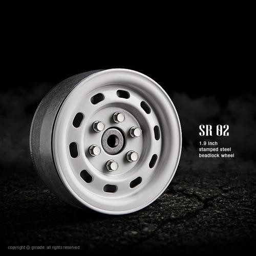 1.9 SR02 beadlock wheels (Gloss white) (2)