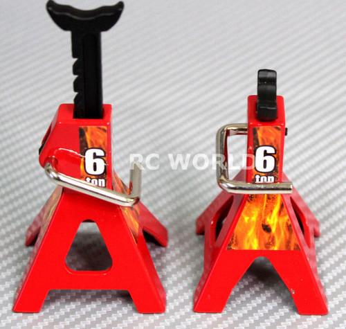 RC 1/10 Scale Truck Accessories METAL JACK STANDS 6T