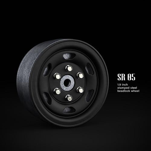 SR05 1.9inch beadlock wheels (Matt black) (2)