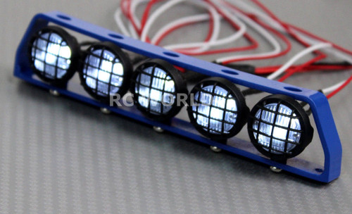 RC Scale Accessories All Metal LIGHT BAR WITH L.E.D LED LIGHTS Blue