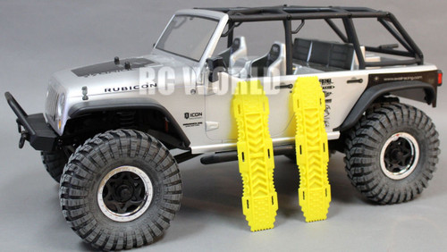 AXIAL SCX10 Jeep Honcho Deadbolt Scale RECOVERY RAMPS Extraction LADDER Yellow