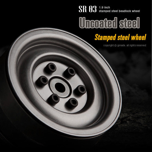 RC 1/10 SCALE TRUCK RIMS WHEELS 1.9 ROCK CRAWLER TRUCK Wheels UNCOATED STEEL