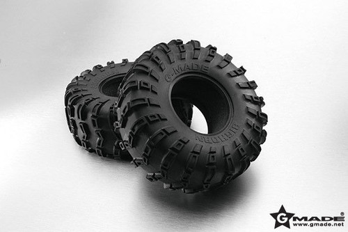 RC 1/10 TRUCK WHEELS 2.2 BEADLOCK ROCK CRAWLER RUBBER TIRES