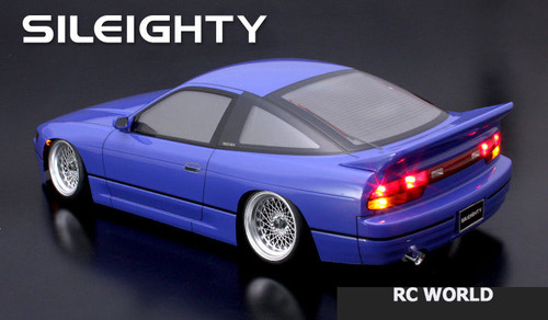 1/10 RC Car Body Shell NISSAN 180SX Sil80 SILEIGHTY Drift BODY W/ Light Bucket