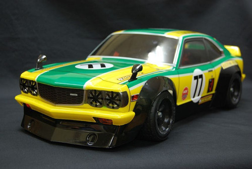 1/10 RC CAR BODY SHELL MAZDA Rx-3 SAVANNA GT COUPE 200MM
