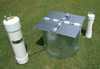 Turf-Tec Driving Plates for Turf-Tec 12 and 24 inch Infiltration Rings (IN10-W & IN14-W)- Unit shown on top of IN10-W 12 and 24 inch Infiltration ring (Not Included) and with IN12-W Mariotte Tubes (Not Included)