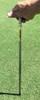 """Turf-Tec Tall Pocket Tubular Soil Sampler - 1/2"""" Diameter Stainless Steel - In use"""
