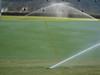 Turf-Tec Precipitation and Uniformity Gauges Set - Shown on a sports field