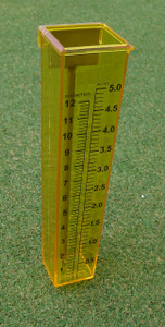 Turf-Tec Precipitation and Uniformity Gauges Set of 16 large and 4 small gauges and 20 stainless steel stands - The Small gauges are placed closest to sprinkler