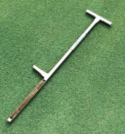 The Turf-Tec 36-inch Tubular Soil Sampler extracts a sample 12 Inches deep soil sample by 3/4 inches wide.