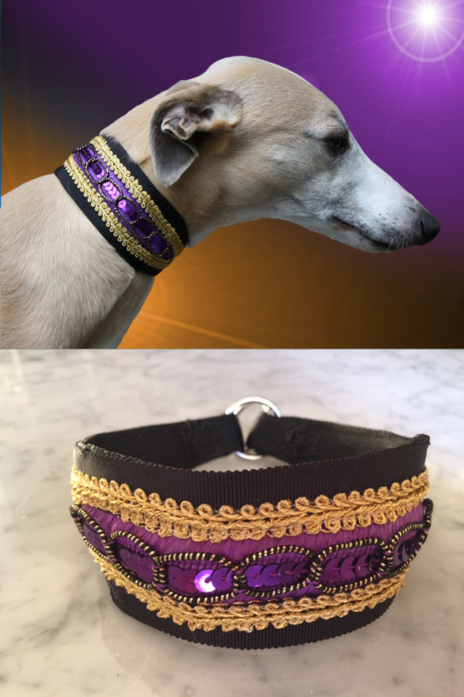adored romantic lover whippet collar