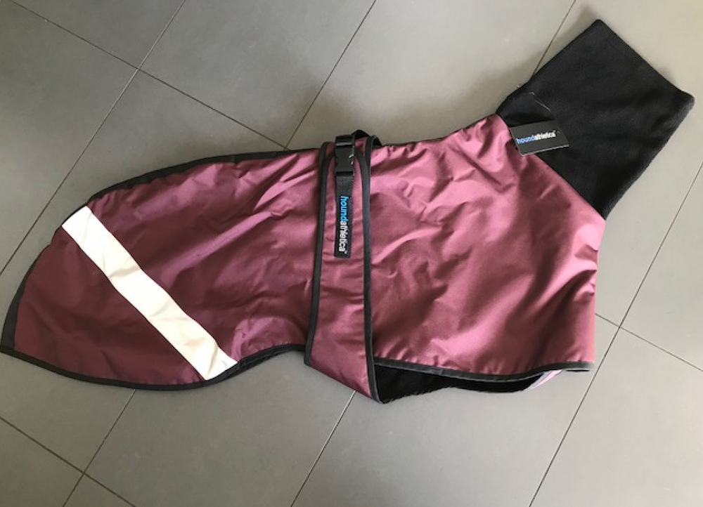 GEEHOUND SPORT burgundy / jet trim size LARGE  (Greyhound)