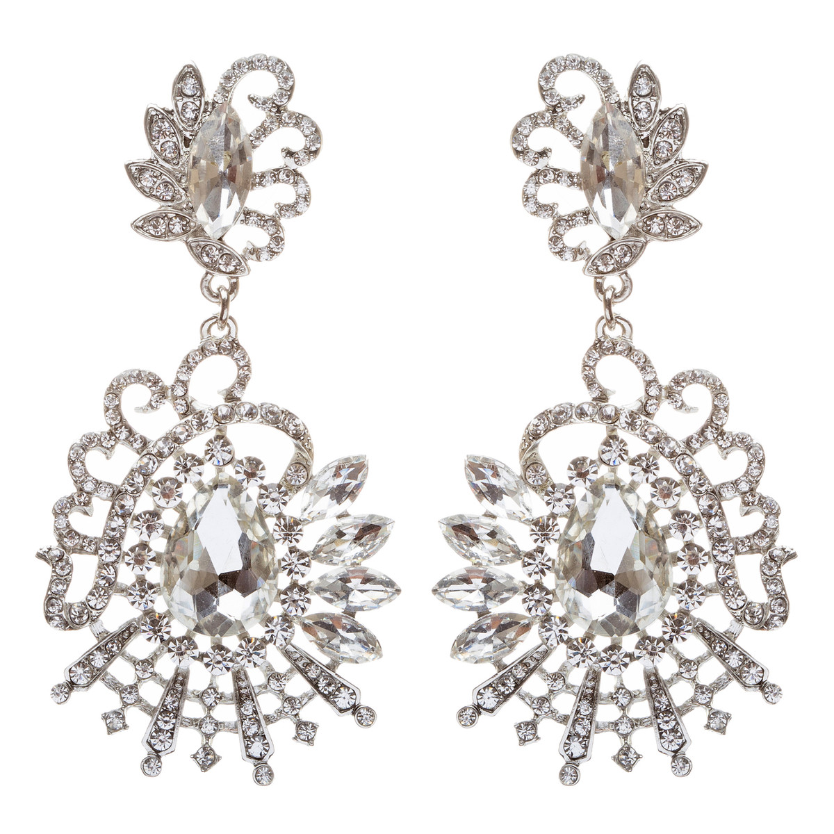 ACCESSORIESFOREVER Bridal Wedding Jewelry Crystal Rhinestone