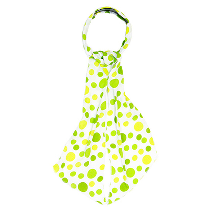 Fashion Scarf Look Headband Chiffon Polka Dot Green
