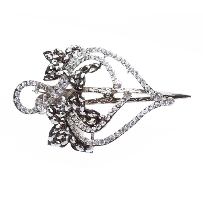 Beautiful Sparkle Crystal Rhinestone Fashion Hair Clip Pin Gorgeous Floral