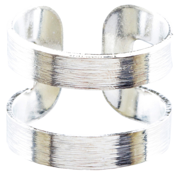 Modern Fashion Contemporary Open Band Wrap Around Design Ring R205 Silver