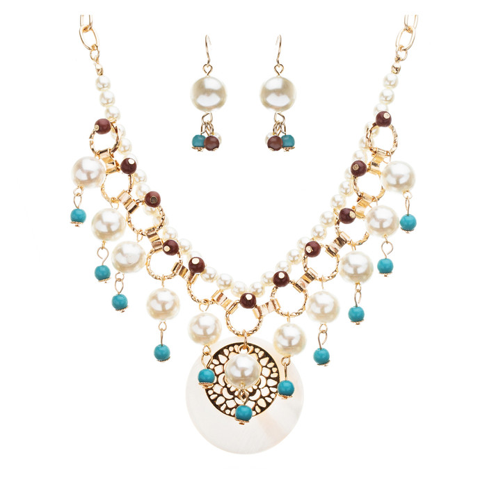 Beautiful Gorgeous Dazzling Fascinating Bib Statement Necklace Set JN172 Multi