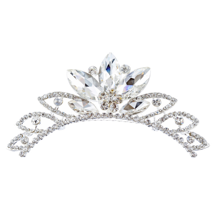 Bridal Wedding Jewelry Crystal Rhinestone Chic Design Hair Comb Tiara H134 SV
