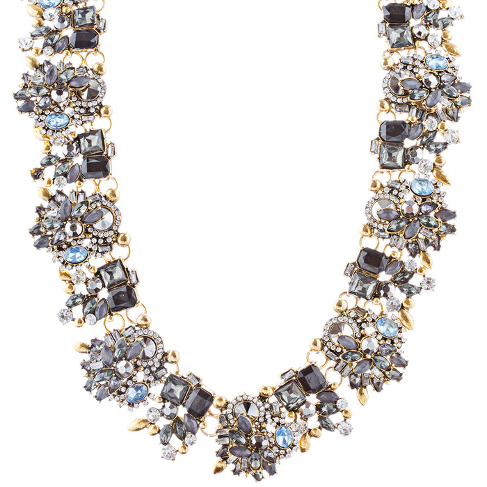 Stunning Sparkle Crystal Rhinestone Fashion Statement Necklace N100 Black