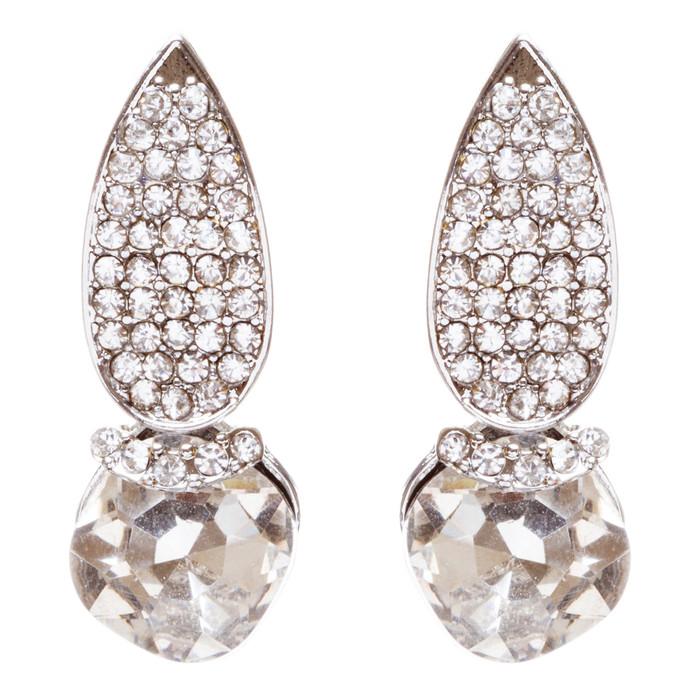 Bridal Wedding Jewelry Crystal Rhinestone Dazzling Chic Dangle Earrings E950 SV