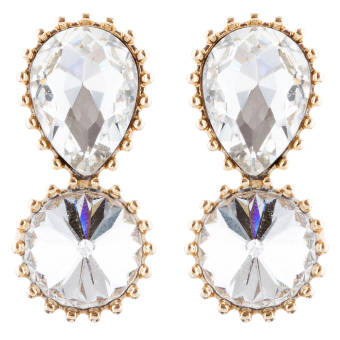 Bridal Wedding Jewelry Prom Simple Sparkle Fashion Dangle Earrings E974 Gold