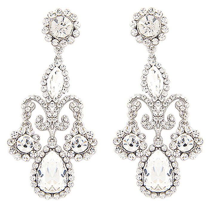 Bridal Wedding Prom Jewelry Crystal Rhinestone Exquisite Dangle Earrings E614