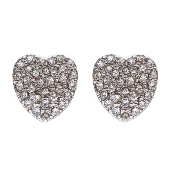 Gorgeous Sparkling Crystal Rhinestone Heart Charm Fashion Earrings E630 SV