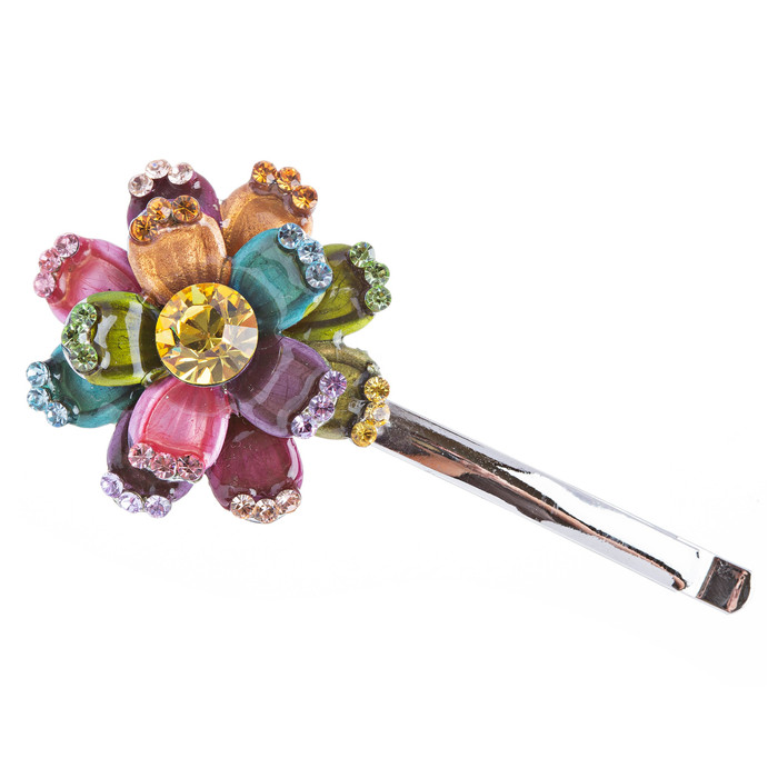 Austrian Crystal Hair Claw Clip Jewelry Floral