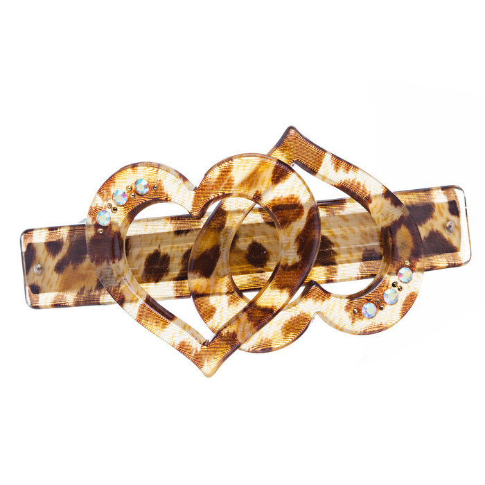 Fashion Woman Hair Barrette Clip Animal Print NEW