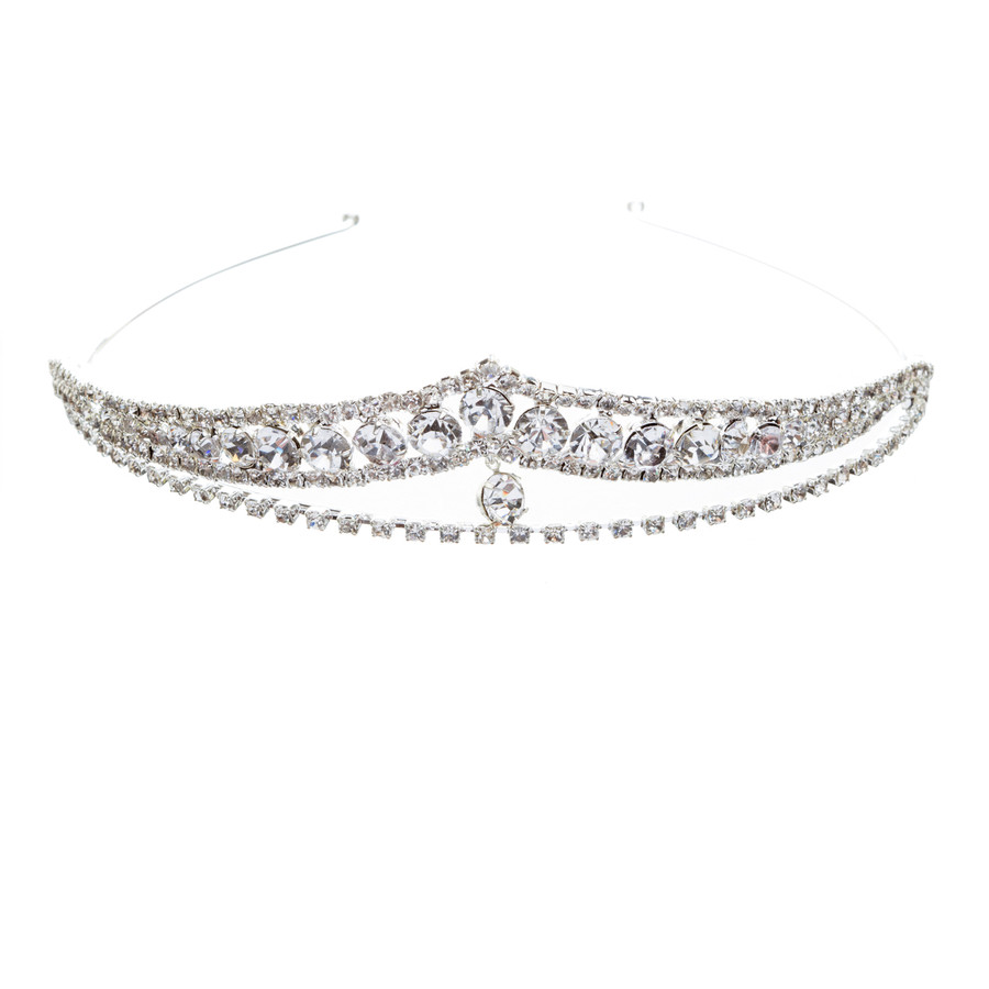 Bridal Wedding Jewelry Crystal Rhinestone Brilliant Classic Headband Tiara