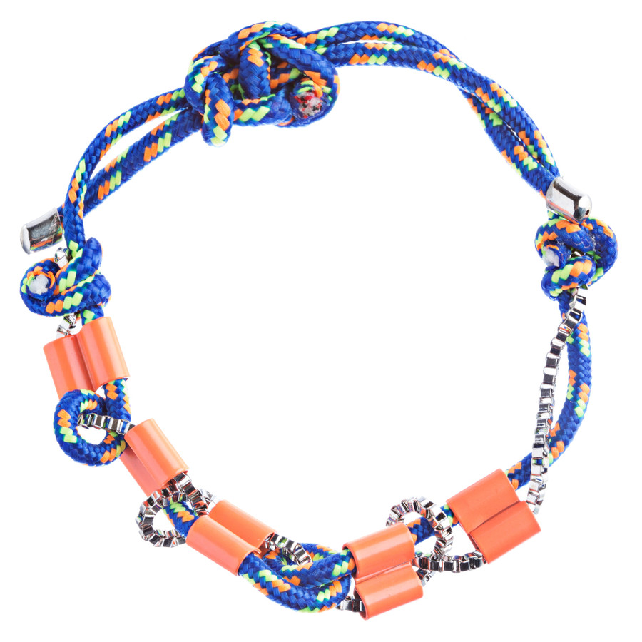 Trendy Stylish Woven Box Chain Beautiful Adjustable Fashion Bracelet B444 Orange