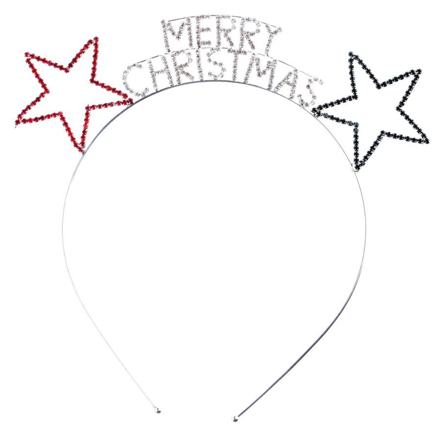Christmas Jewelry Crystal Rhinestone Festive Merry Christmas Headband HA481 MT