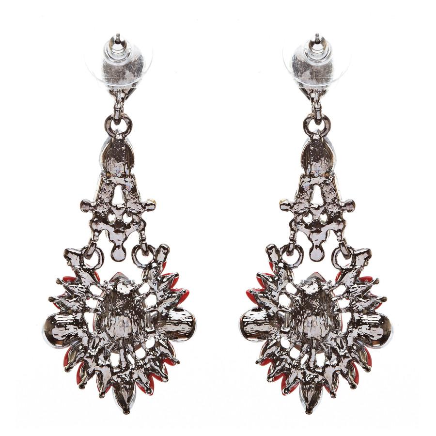Bridal Wedding Jewelry Crystal Rhinestone Uniquely Crafted Earrings E726 Black