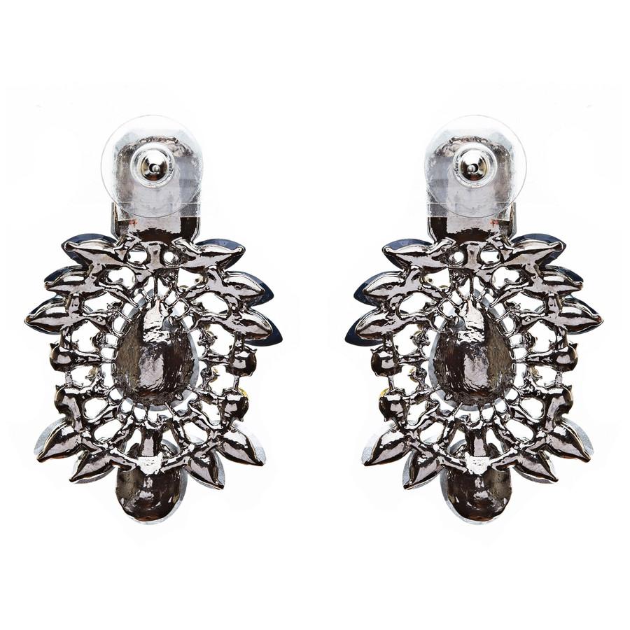 Bridal Wedding Jewelry Crystal Rhinestone Fascinating Rectangular Earrings E727B