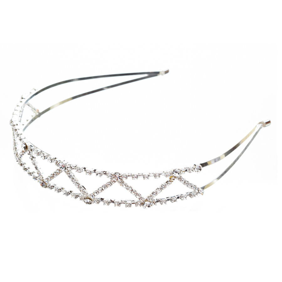 Bridal Wedding Jewelry Crystal Rhinestone Delicate Zigzag Pattern Headband H159