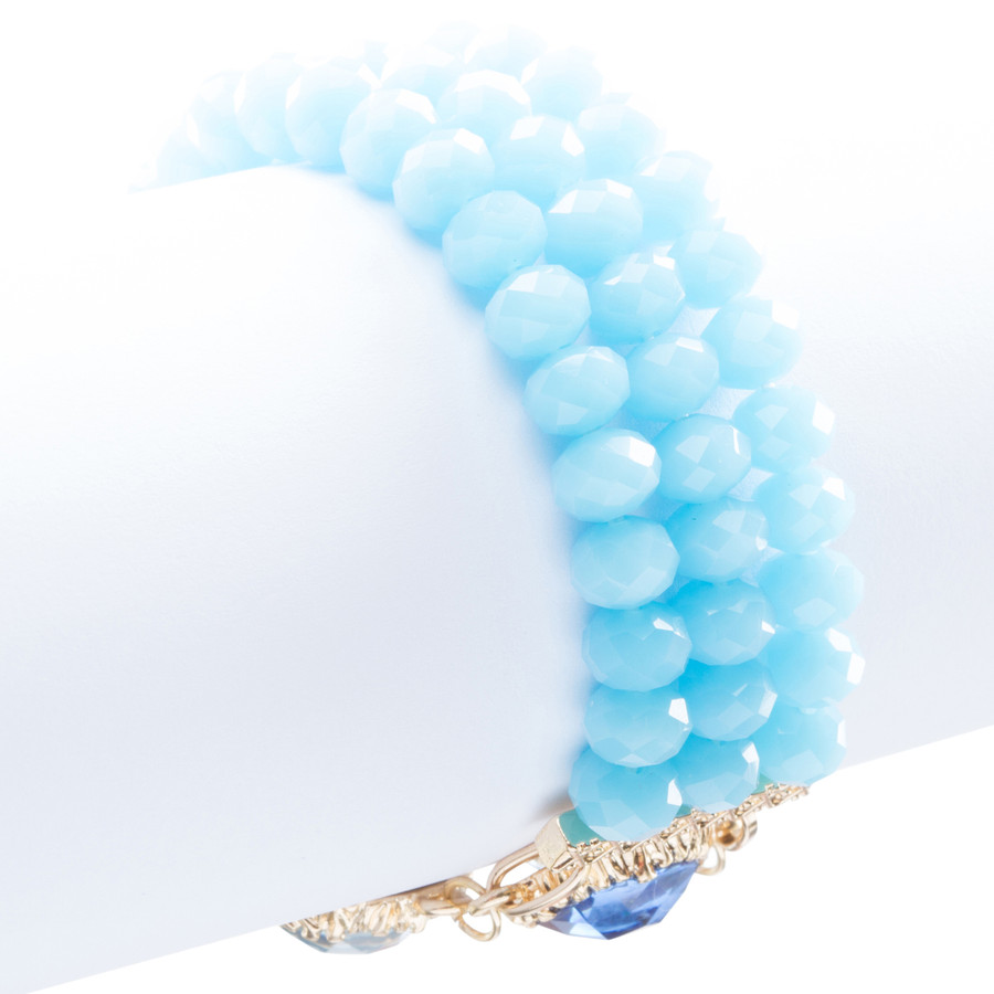 Modern Fashion Captivating Bright Color Design Statement Bracelet B485 Blue