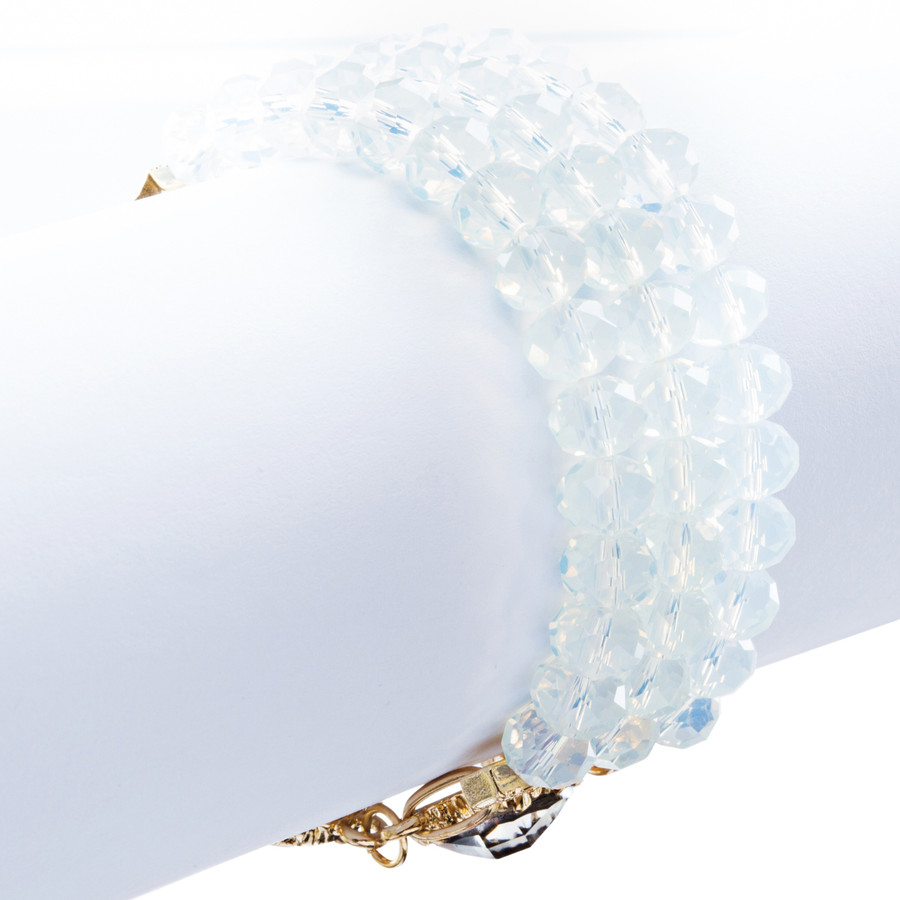 Modern Fashion Captivating Bright Color Design Statement Bracelet B485 White