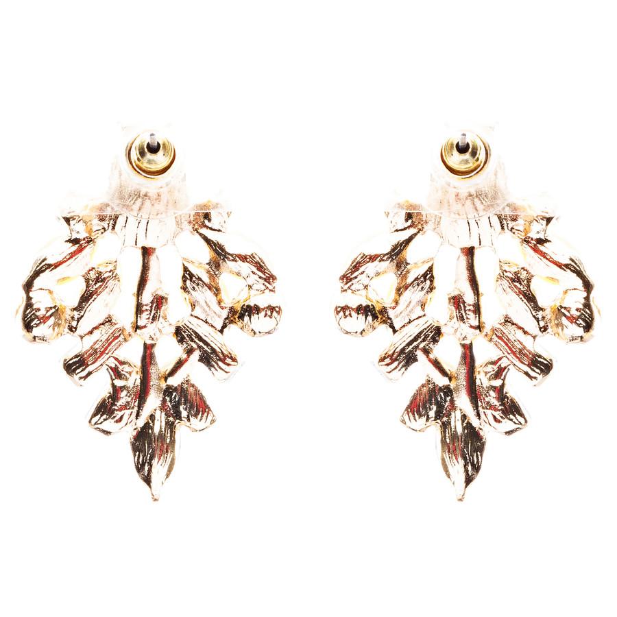 Modern Fashion Crystal Rhinestone Attractive Tear Drop Earrings E807 Yellow