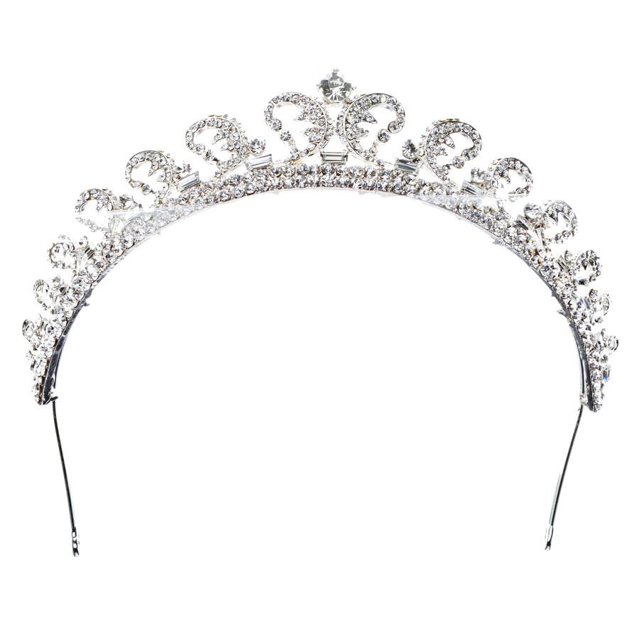 Bridal Wedding Jewelry Crystal Rhinestone Remarkable Crown Hair Tiara HA174Clear