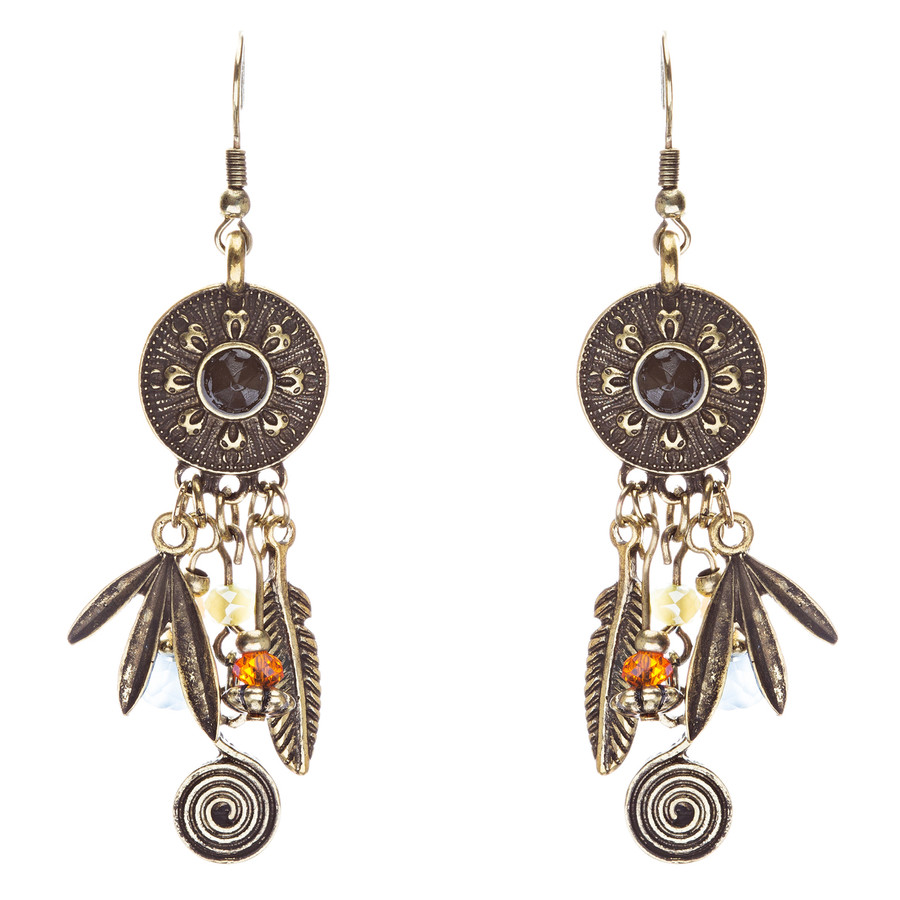 Tribal Fashion Captivating Long Drop Glass Beads Dangle Earrings E825 Multi
