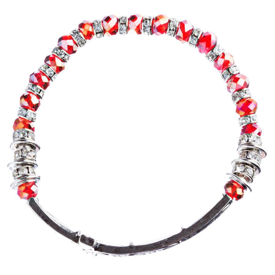 Lovely Crystal Rhinestone Cross Design Fashion Statement Bracelet B472 Red