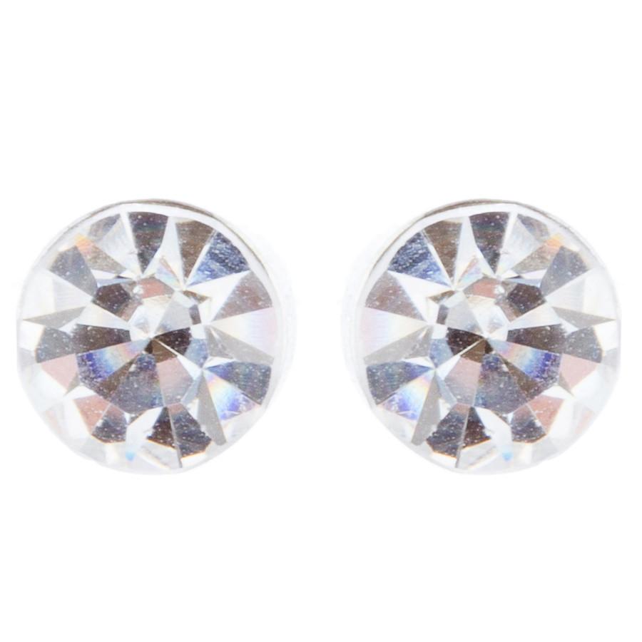 Bridal Wedding Jewelry Crystal Rhinestone Stylish Teardrop Necklace Set J688 SV