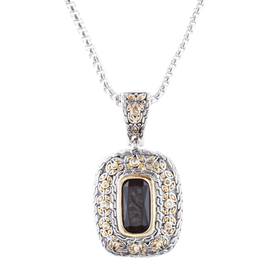 Beautiful Simple Classy Pendant Charm Two-Tone Fashion Necklace N99 Silver