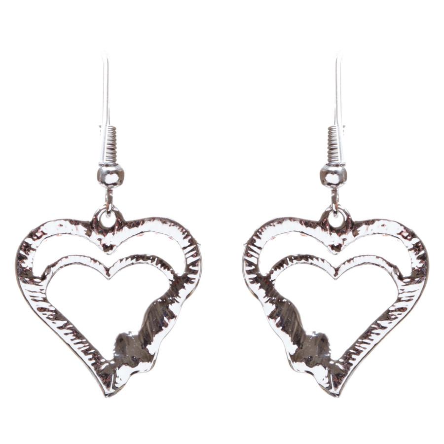 Valentines Jewelry Beautiful Crystal Rhinestone Hearts Earrings E907 Red