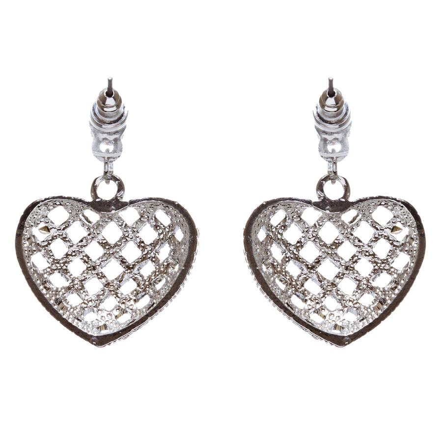 Valentine's Day Jewelry Crystal Rhinestone Charming Heart Dangle Earrings E933SV