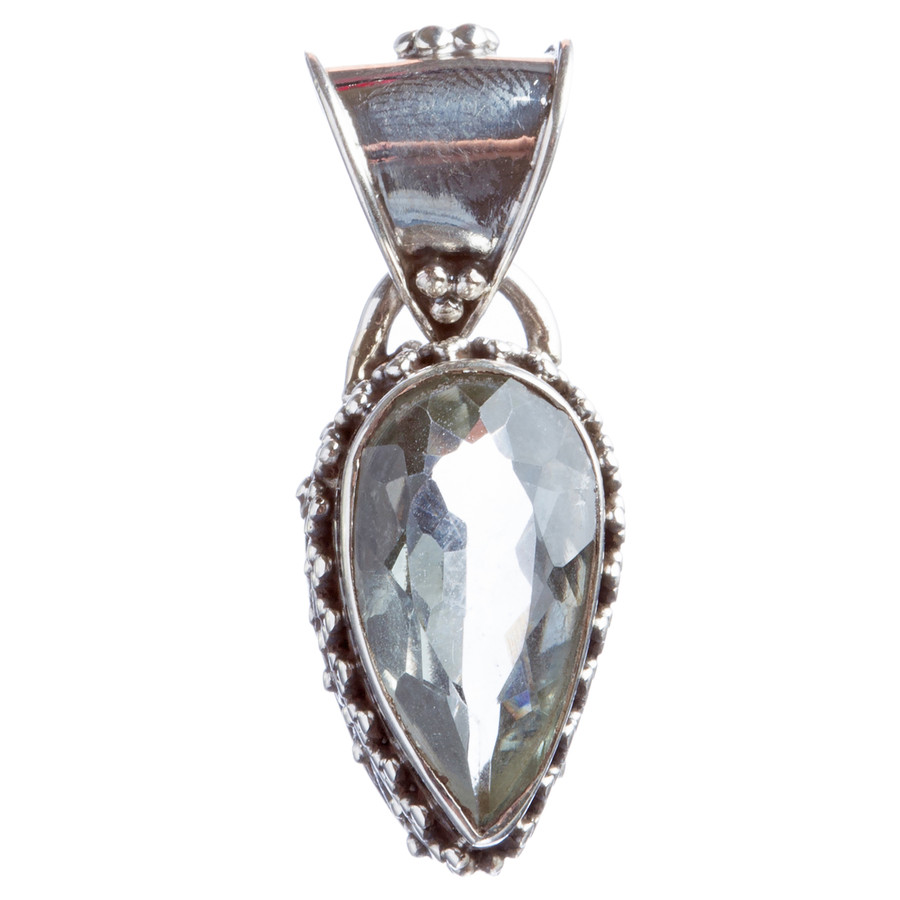 925 Sterling Silver Natural Gemstones Quartz Pendant FJSVP2102