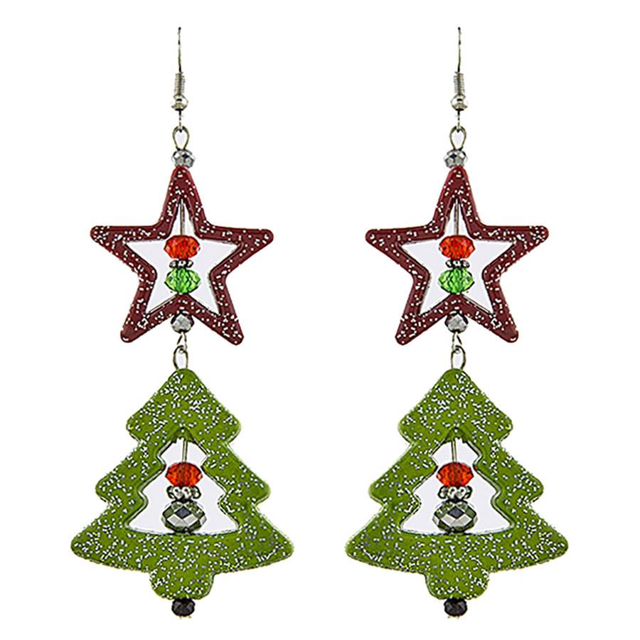 Christmas Jewelry Holiday Xmas Tree Design Fashion Dangle Earrings E1189 Multi