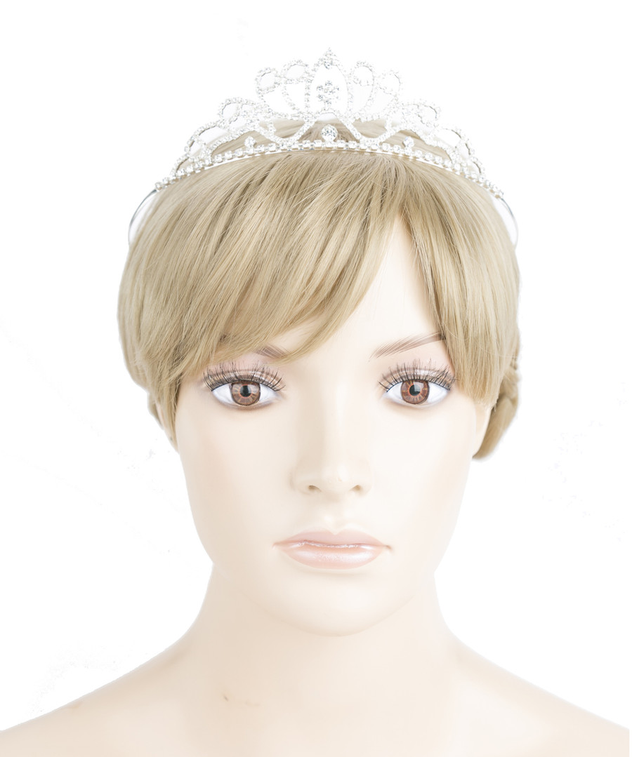 Bridal Wedding Prom Jewelry Crystal Rhinestone Dazzle Headband Tiara HA219 SV
