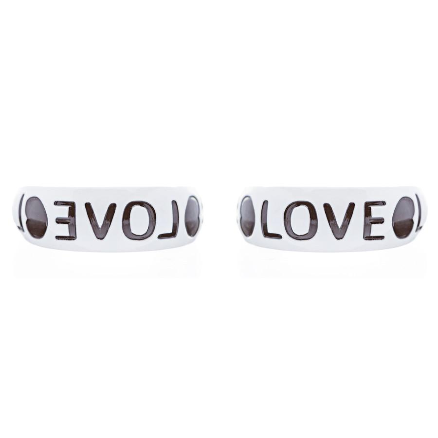 Woman Fashion Lucite Hoop Earrings Love Heart White