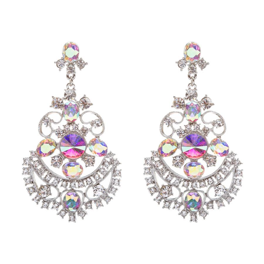 Bridal Wedding Jewelry Crystal Rhinestone Glimmer Dangle Earrings ER658 AB